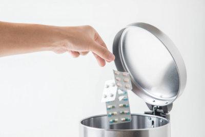throwing medicines away